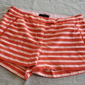 EUC J. Crew Orange Striped Shorts Size 8